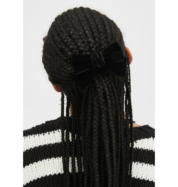 Glitzy Grls Velvet Hair Bow