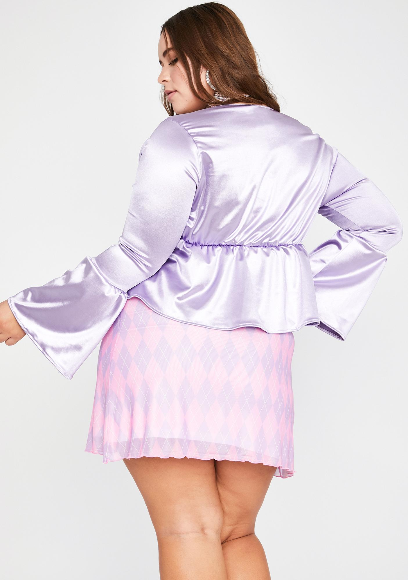 Her Magical Raised Interest Crop Blouse