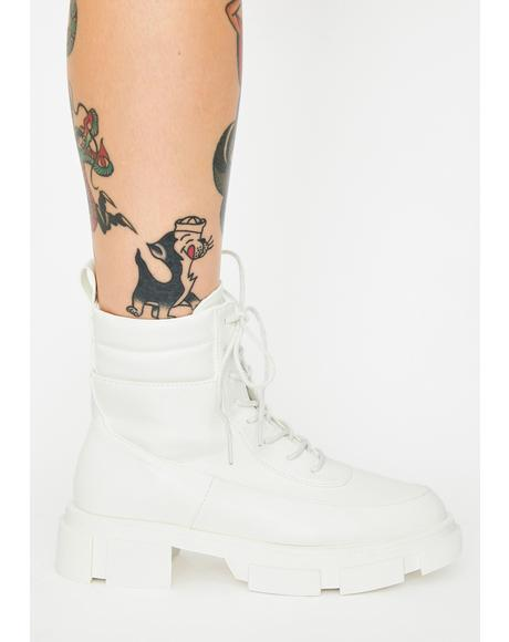 Blanc Easy Recruit Combat Boots