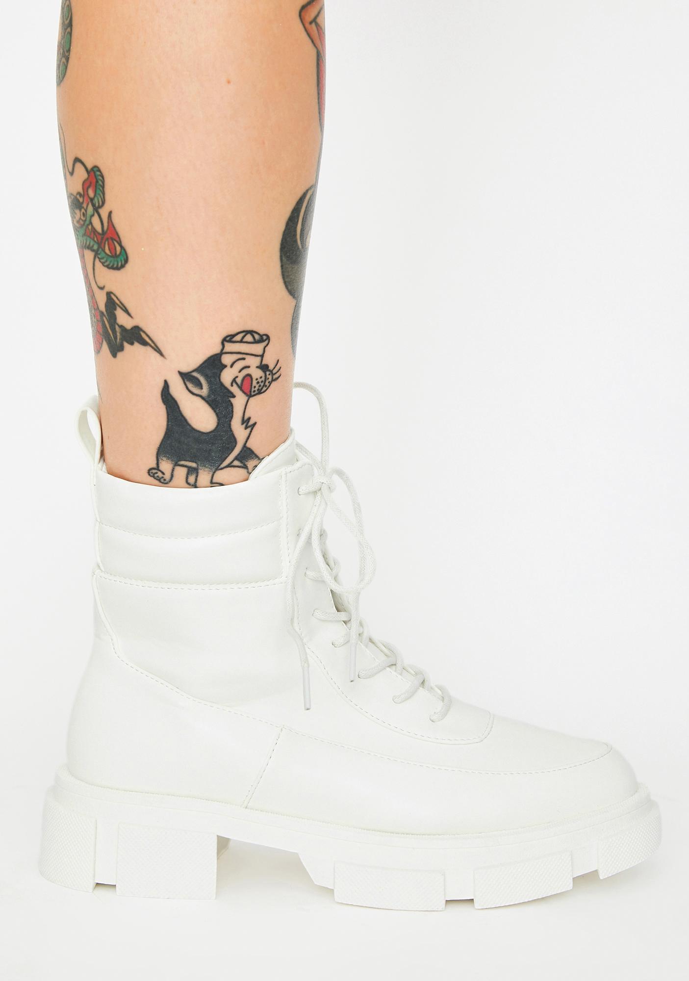 Blanc Easy Recruit Combat Boots