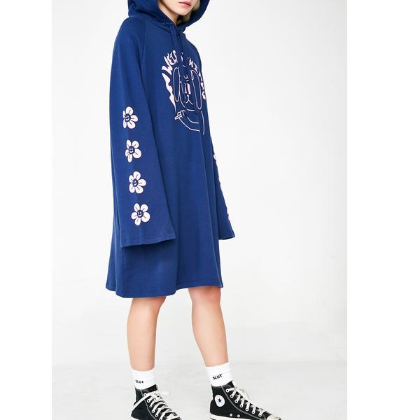 Lazy Oaf Weird Things Hoodie Dress