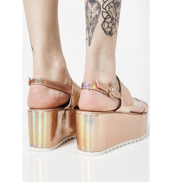 Rose Cosmic Bae Of Light Hologram Platforms