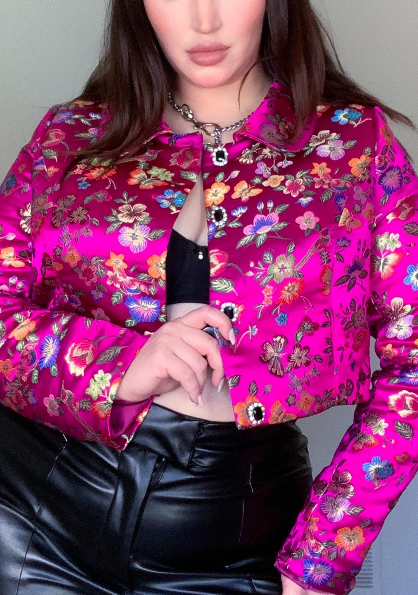 Pretty True Grunge Glory Brocade Jacket