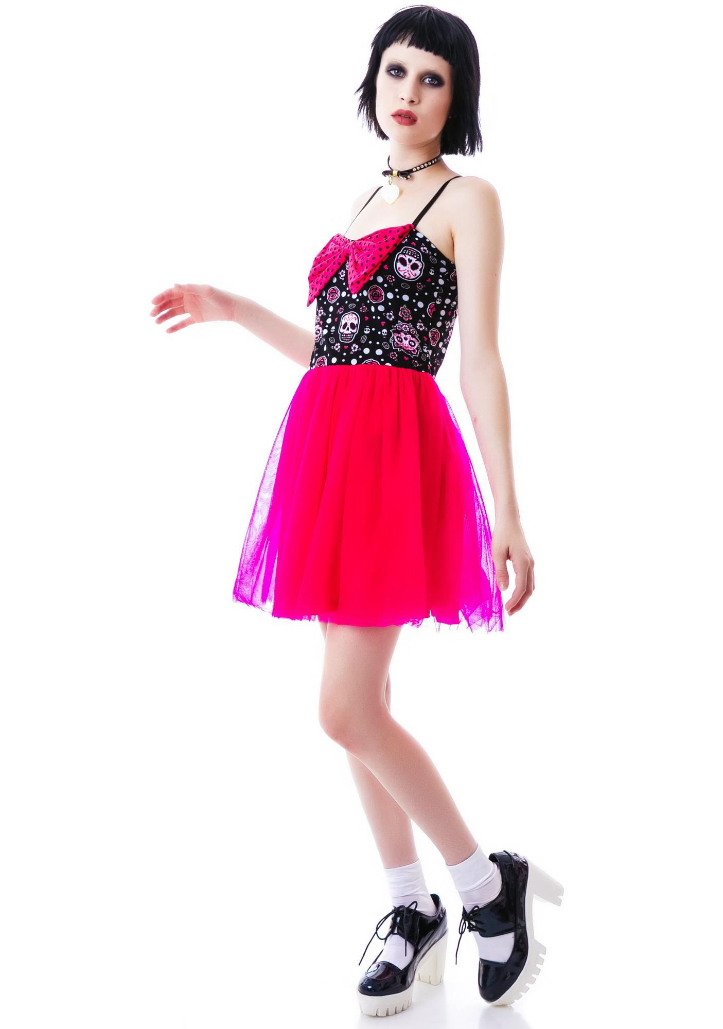 Too Fast Muerta Cat Cinderella Dress