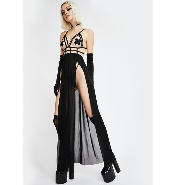Into The Cage Maxi Dress Set