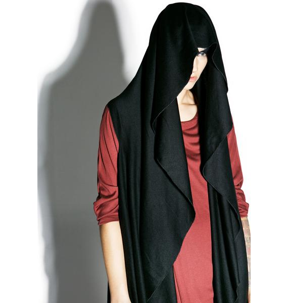 MNML Midnight Shadow Sleeveless Hooded Cardigan