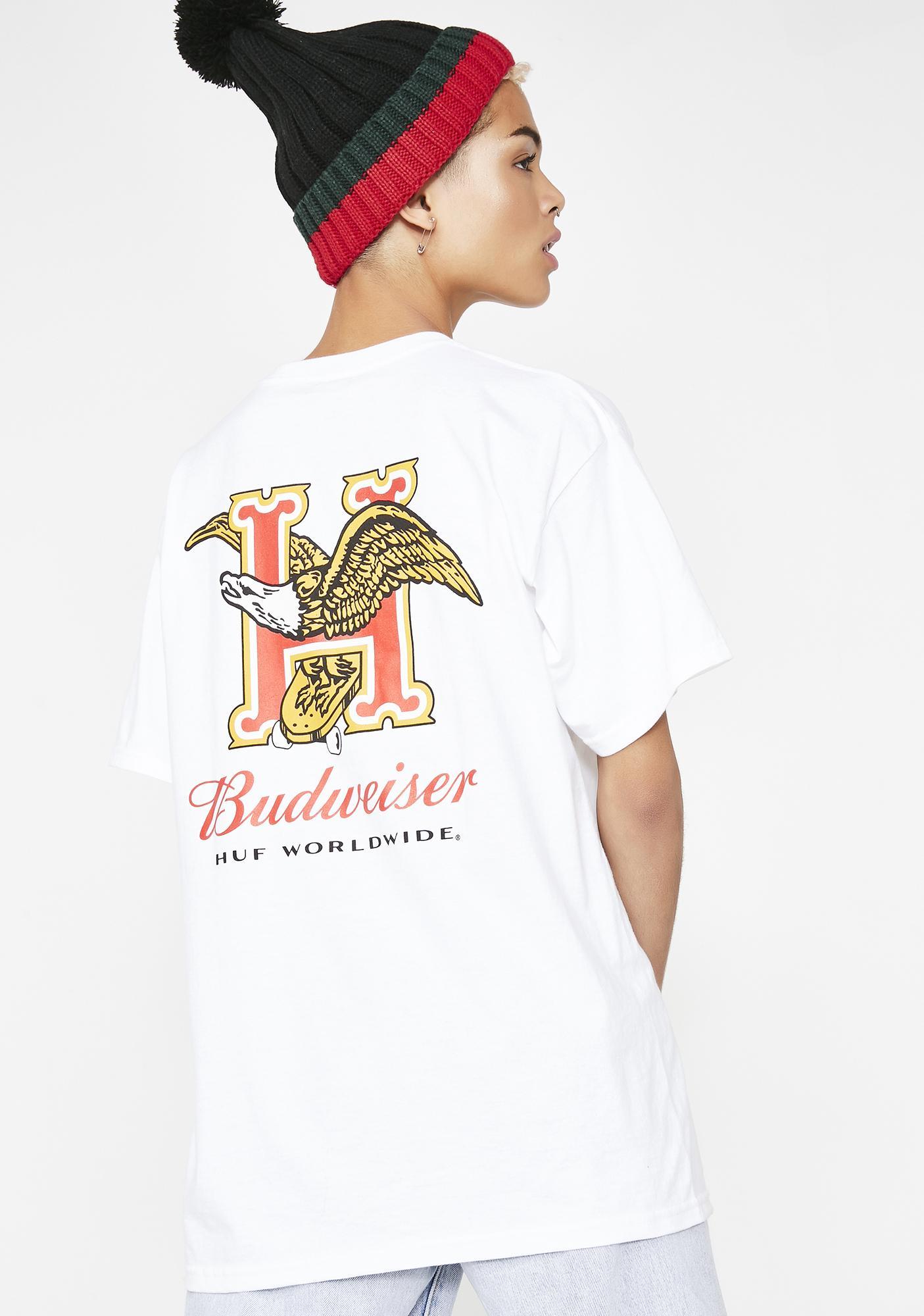 HUF x Budweiser Eagle Short Sleeve Tee