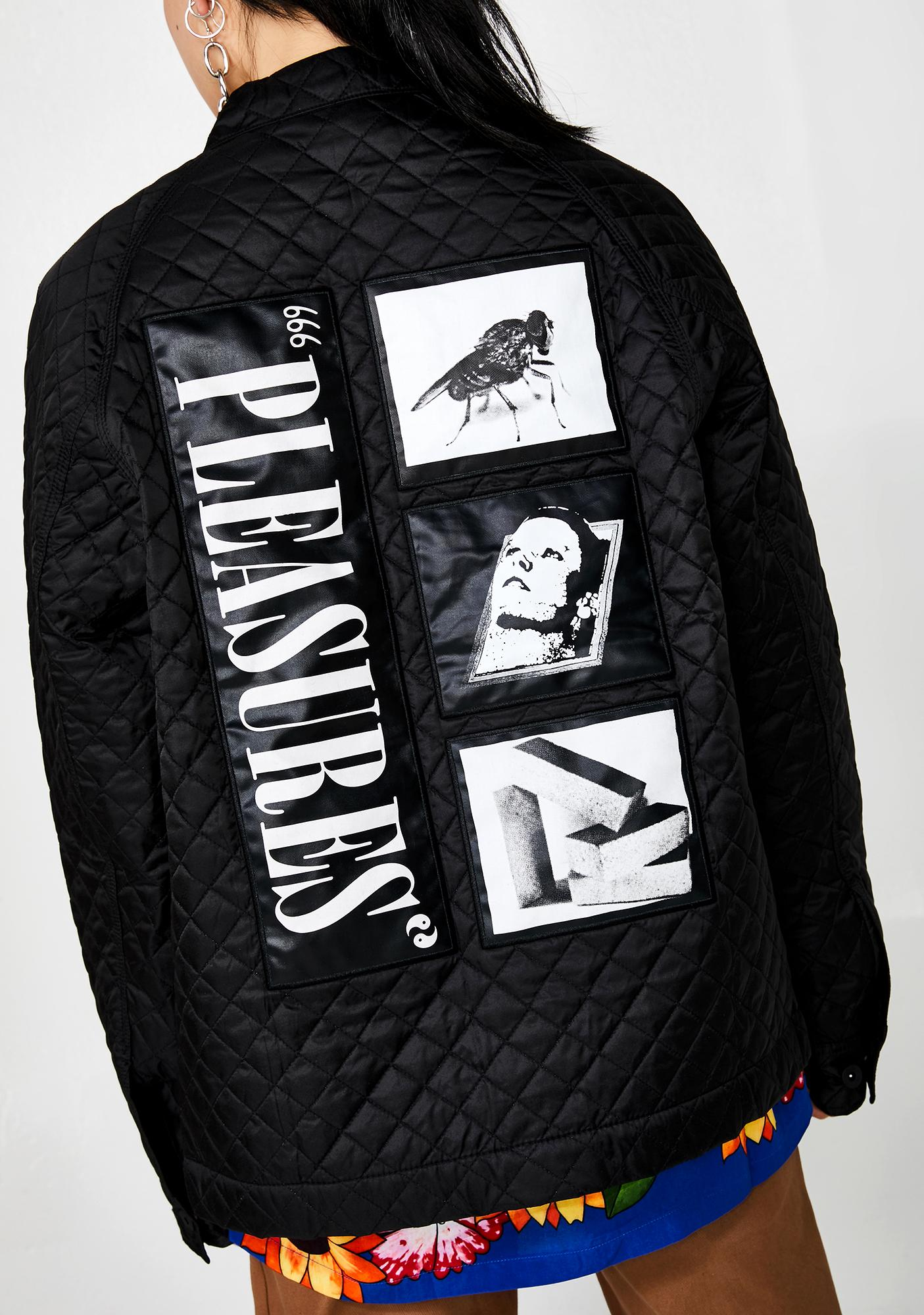 Pleasures Rodman Quilted Satin Chore Jacket