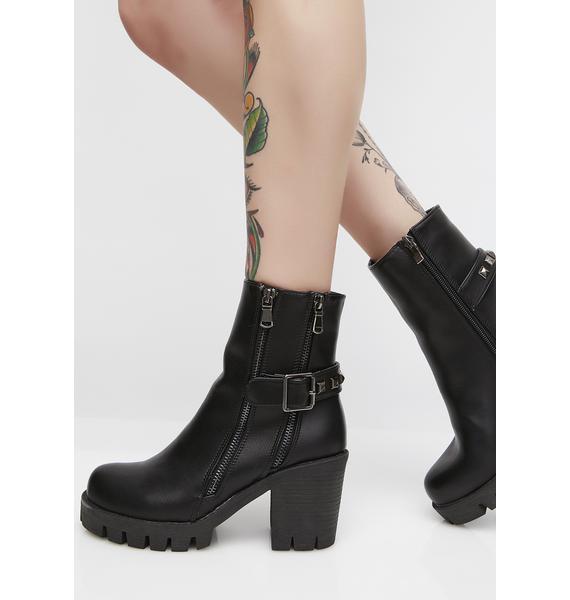 Dark Abernathy Ankle Boots