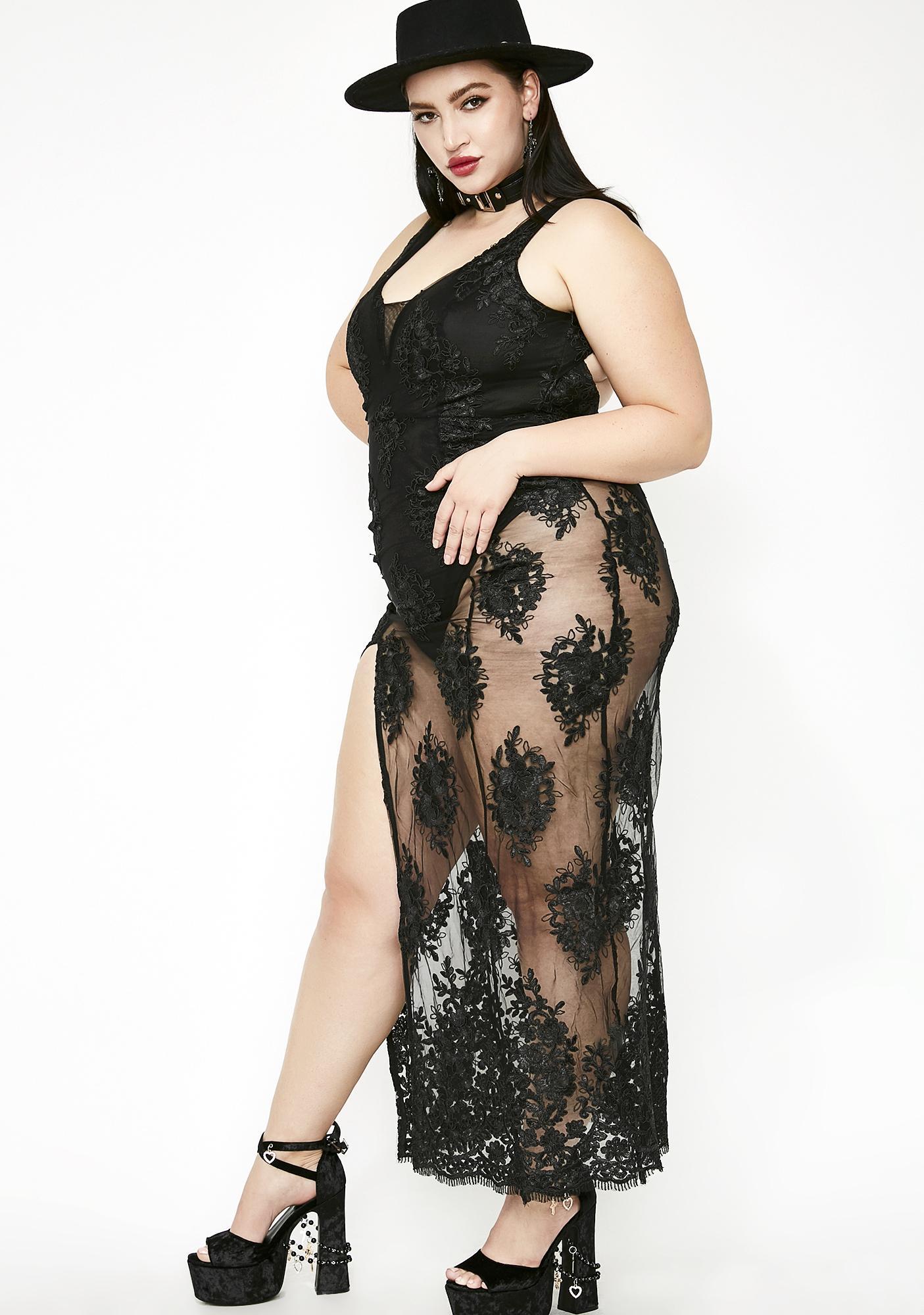 Sheer Lux Maxi Dress