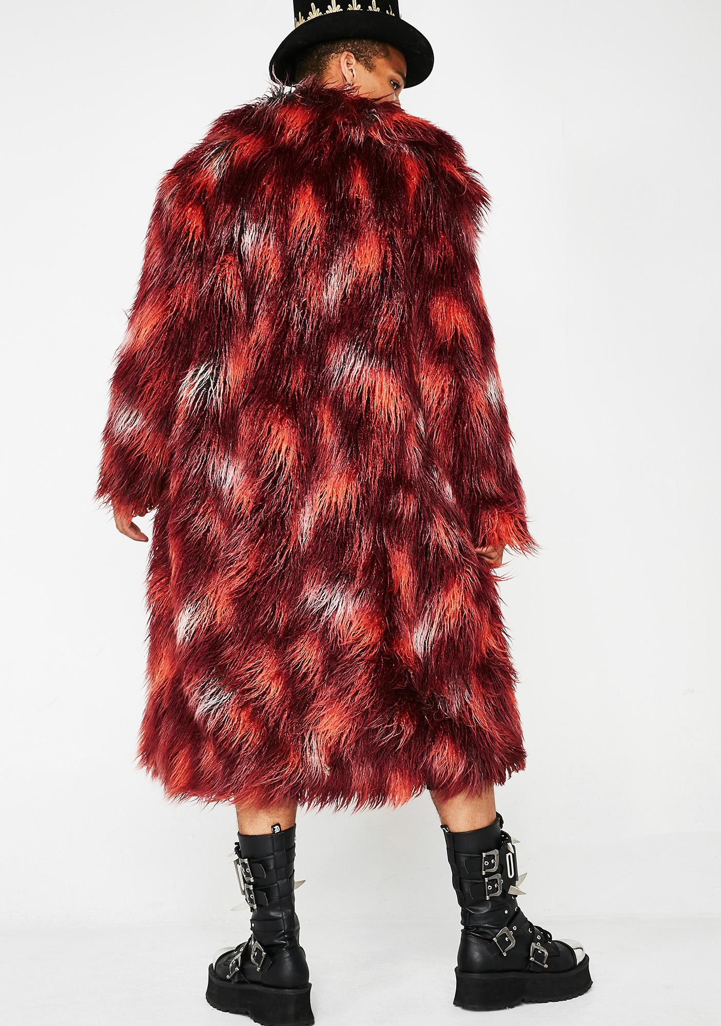Club Exx Tripped Out Tycoon Unisexx Fur Coat