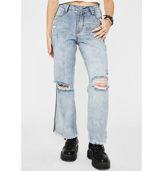 One Teaspoon Montana Tuxedo Stripe Libertines Jeans
