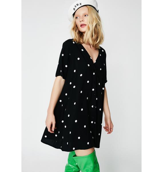 Motel Polka Dot Crosena Babydoll Dress