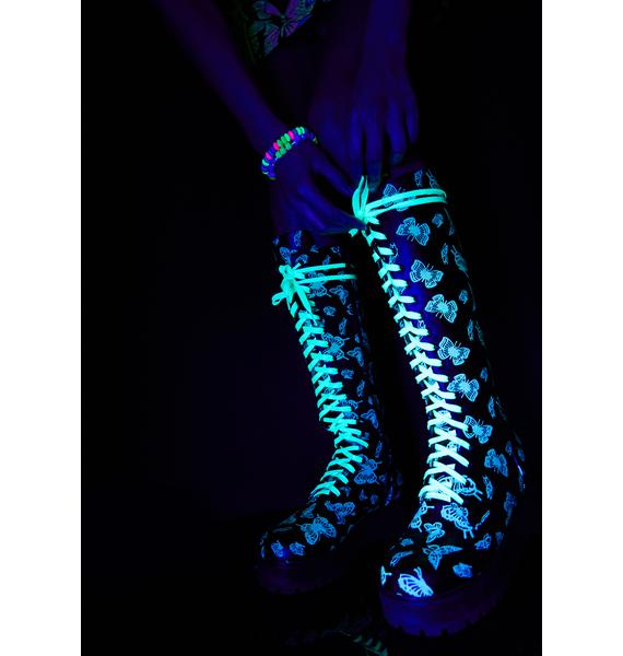 Club Exx Lucky Wanderer Glow In The Dark Boots