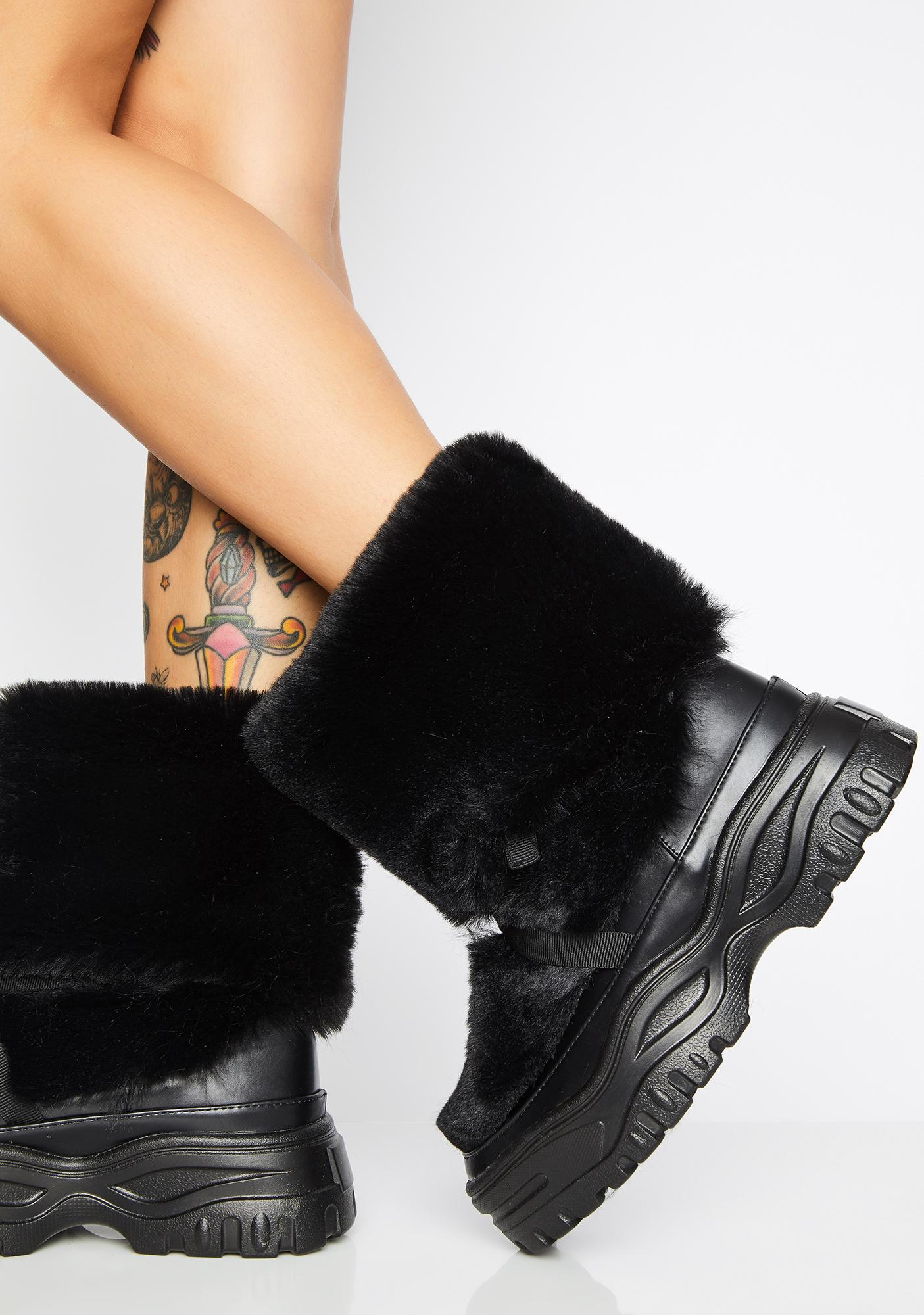 Reckless Abandon Furry Boots