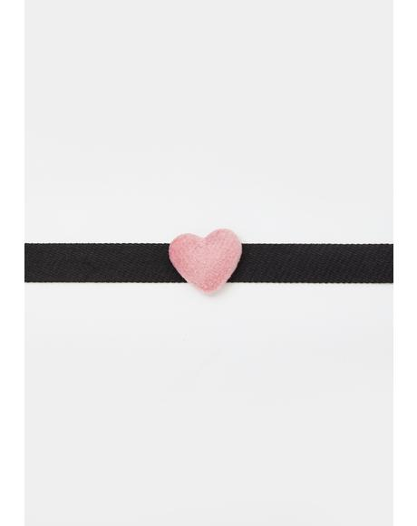 Night Loved Up Heart Choker