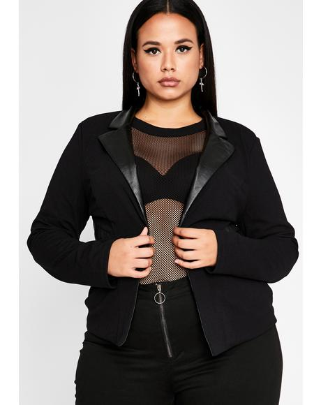 I'm Strictly Bish'ness Collar Blazer