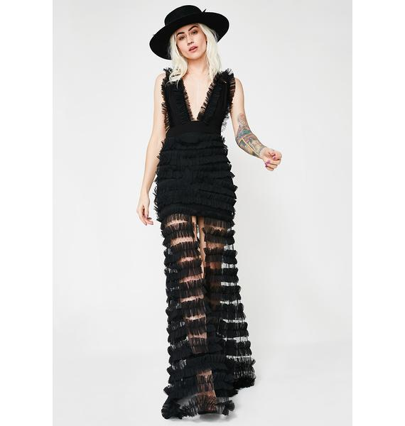 Kiki Riki You're The One Ruffled Maxi Dress