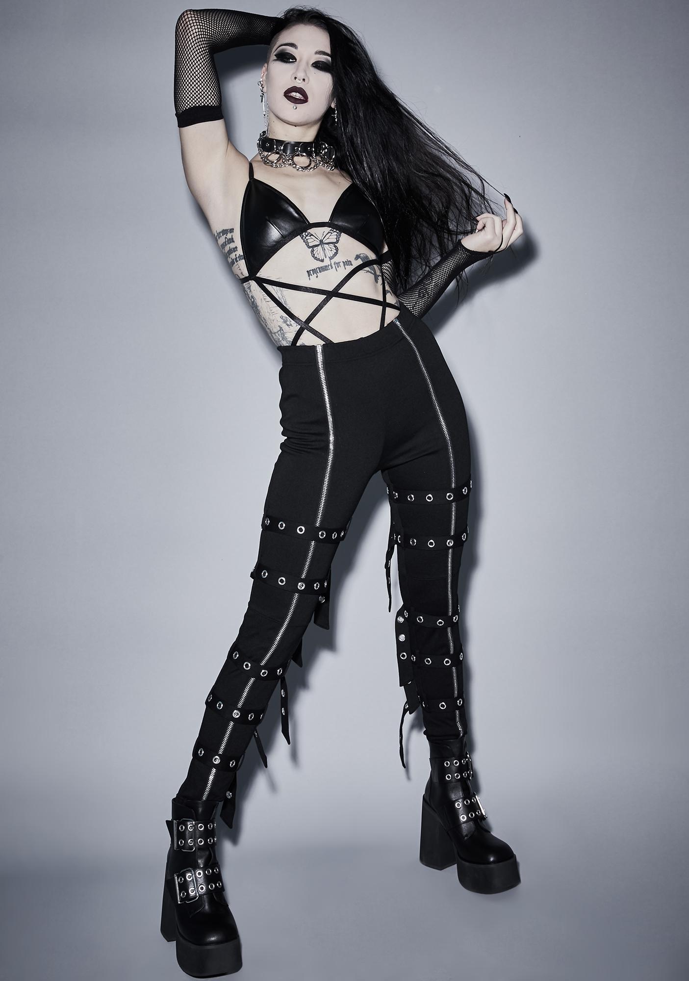 Widow Occult Addiction Pentagram Bodysuit