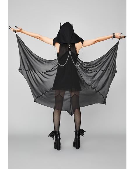 Bite Night Hooded Bat Cape