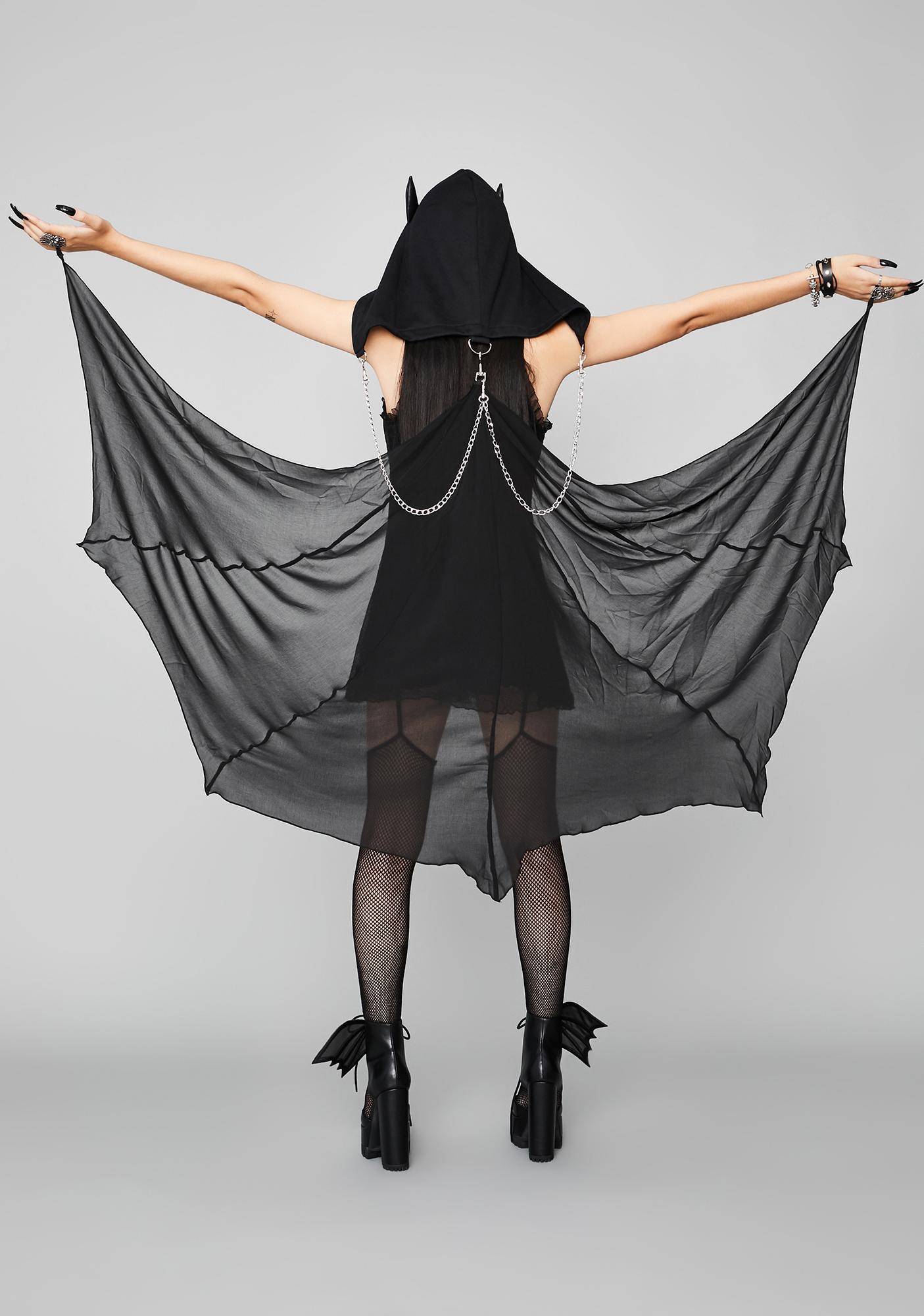 Widow Bite Night Hooded Bat Cape