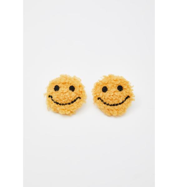 Happy Thots Fuzzy Earrings