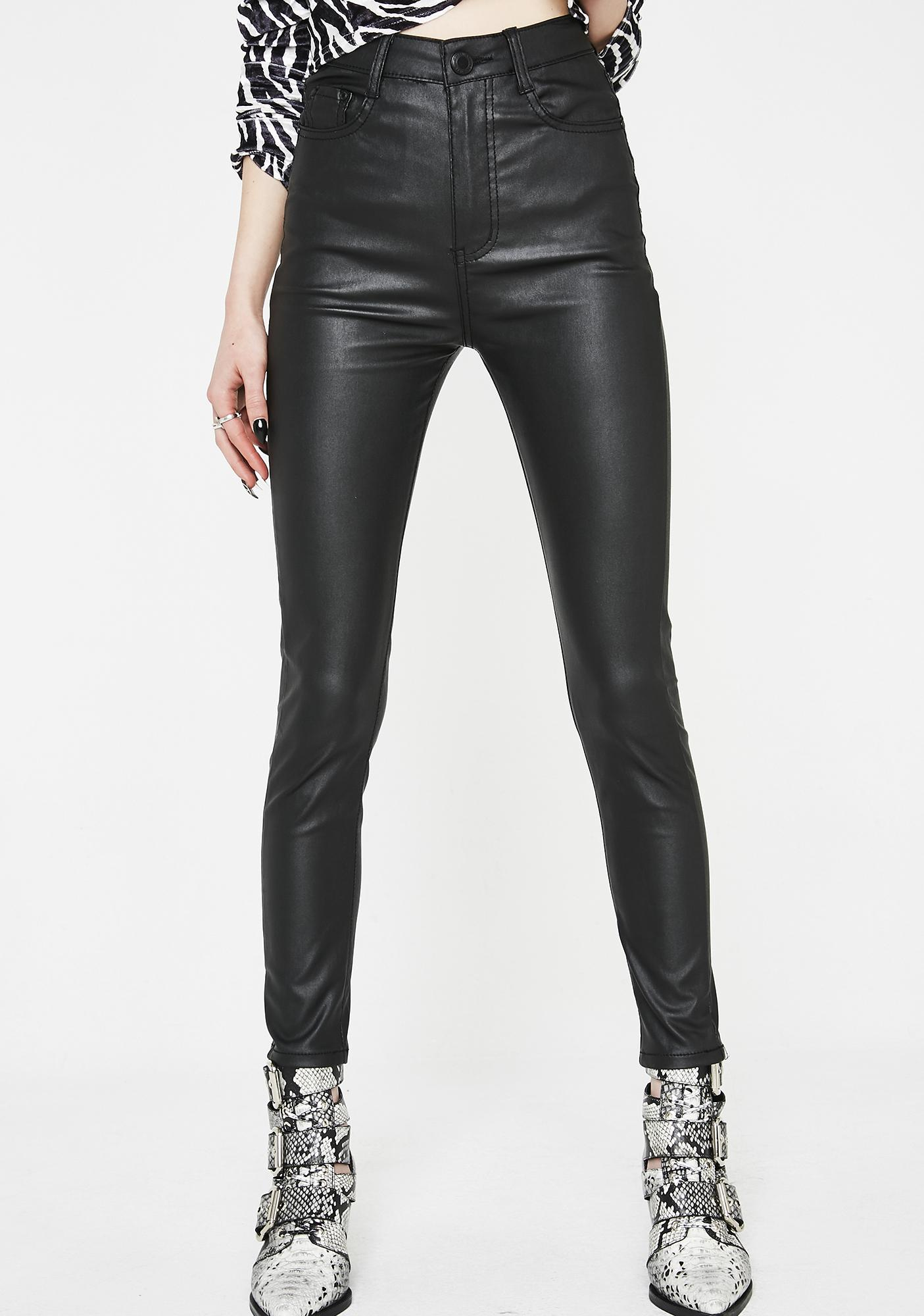 Momokrom Vegan Leather Skinny Pants