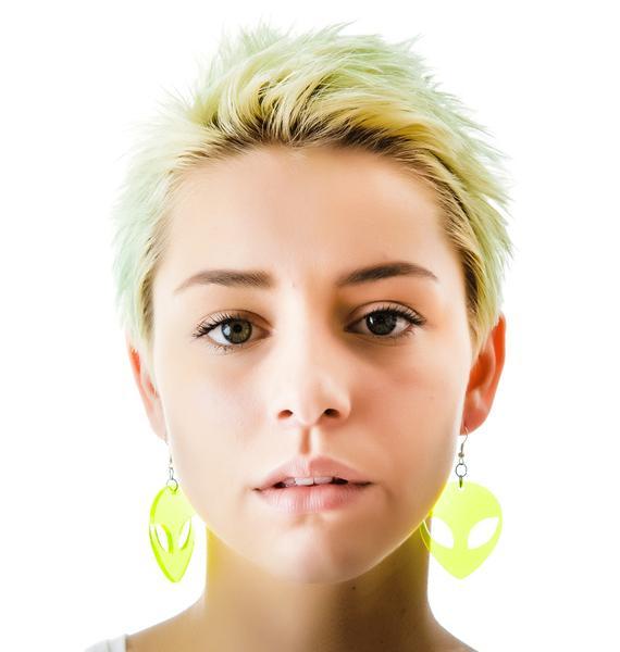 Suzywan Deluxe Alien Baby Earrings