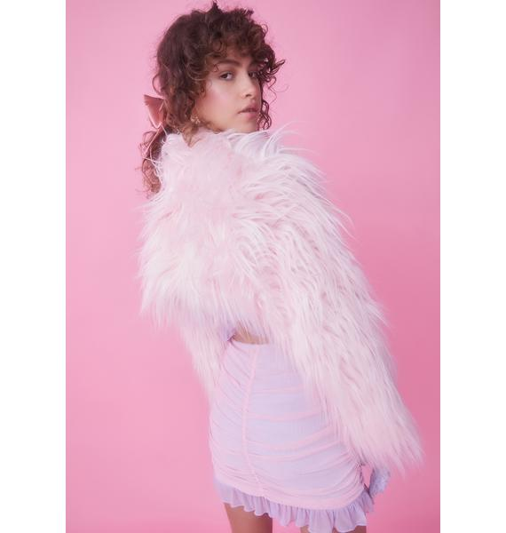 Sugar Thrillz Think Mink Faux Fur Shrug