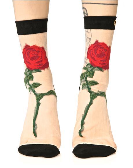 The Rose Anklet Socks