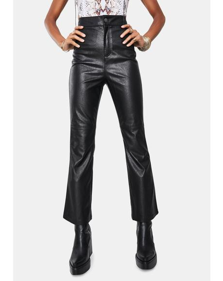 Sasha Crop Vegan Leather Pants