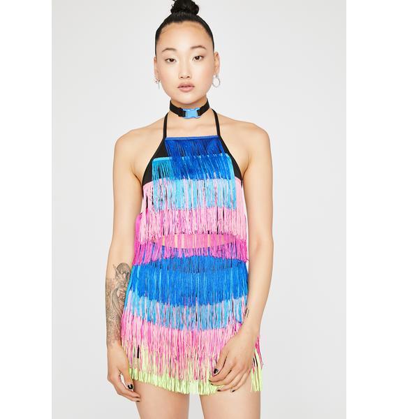 Shake It Fringe Skirt Set