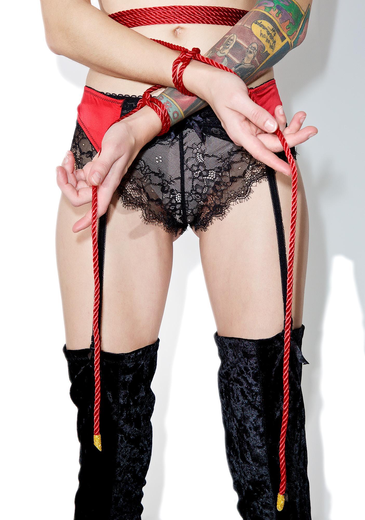 Fraulein Kink Rouge Bondage Lasso