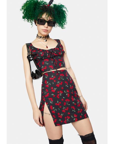 Black Cherry Shenka Mini Skirt