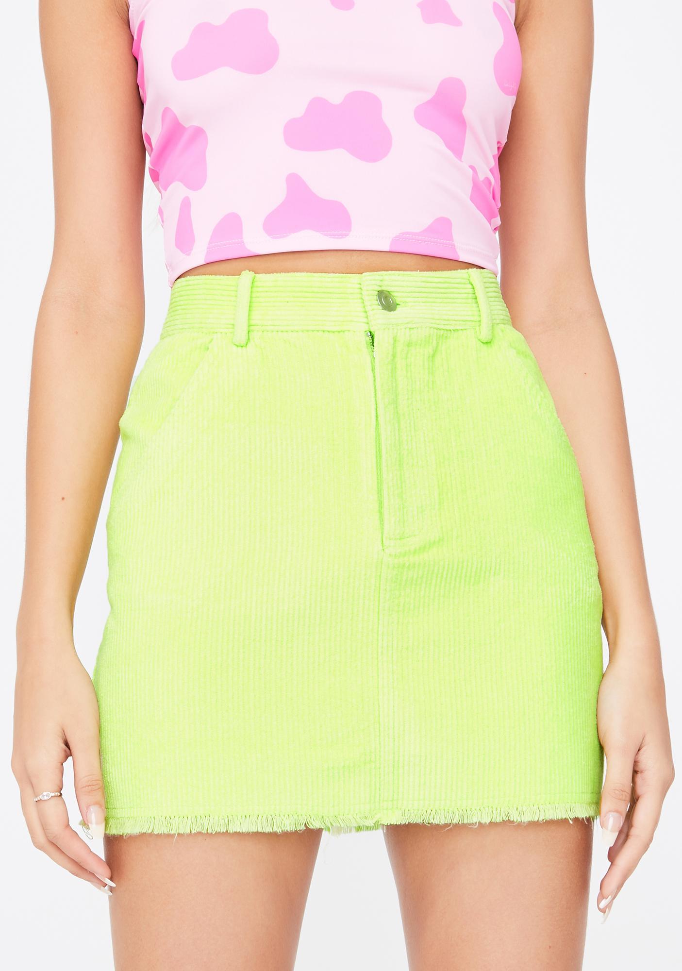 Re Named Trending Starlet Corduroy Skirt