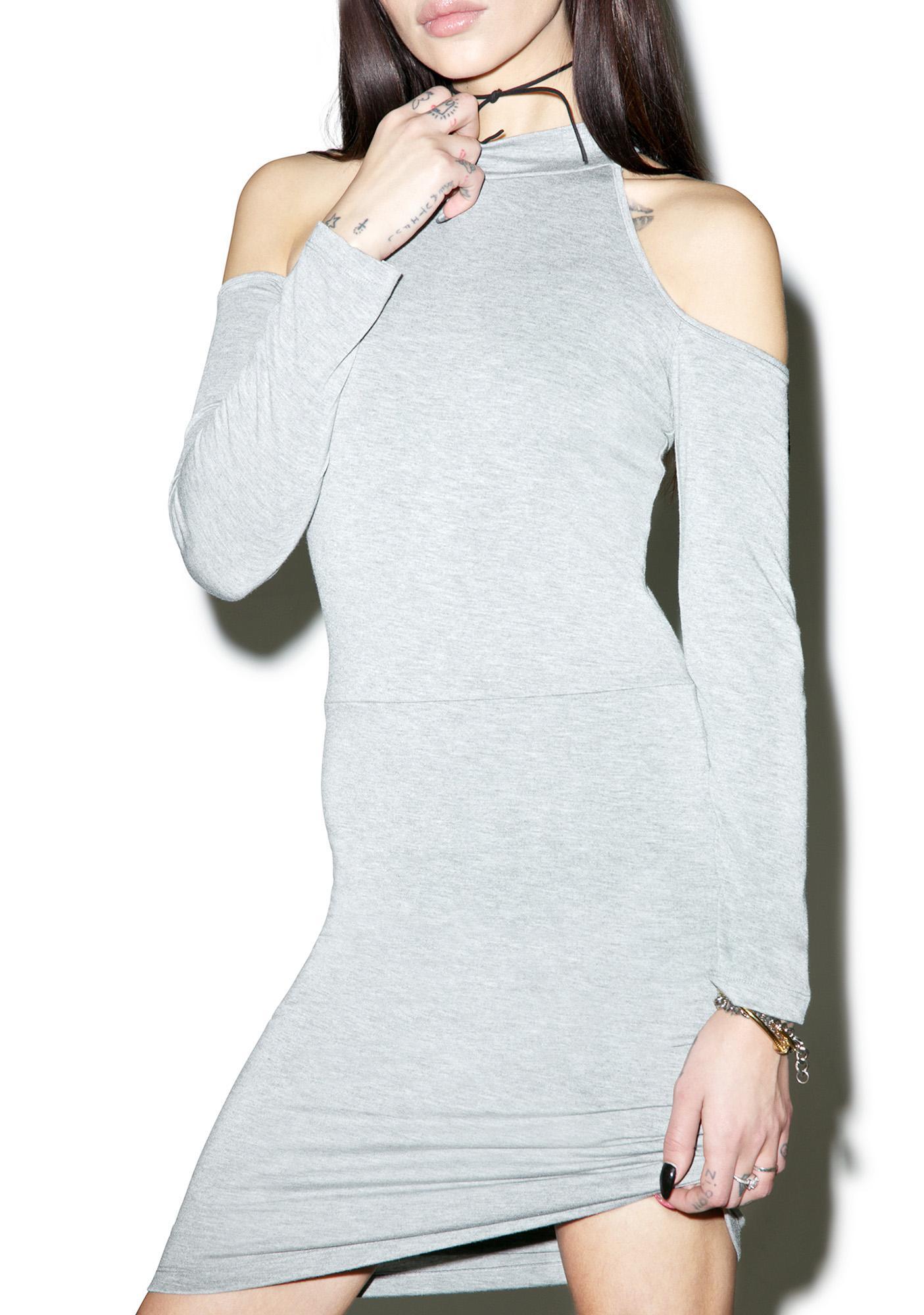 BLQ BASIQ Cold Shoulder Mini Dress