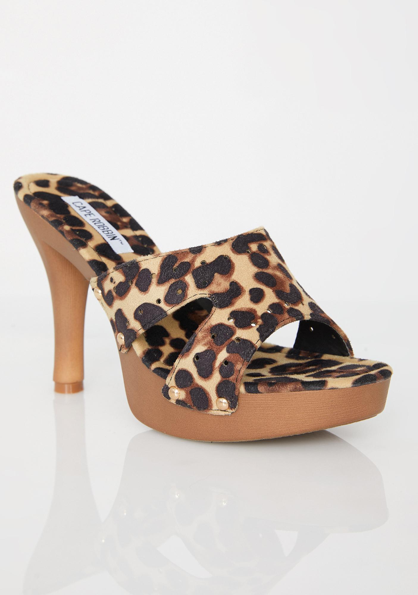 Catty Clique Leopard Heels