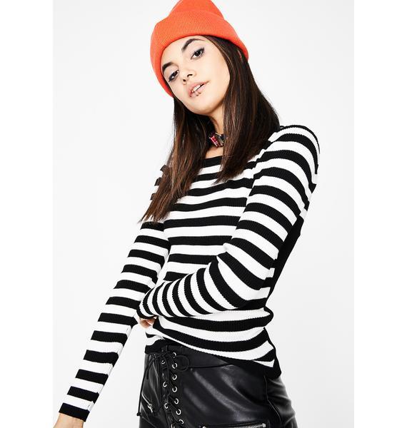 Serial Criminal Stripe Sweater