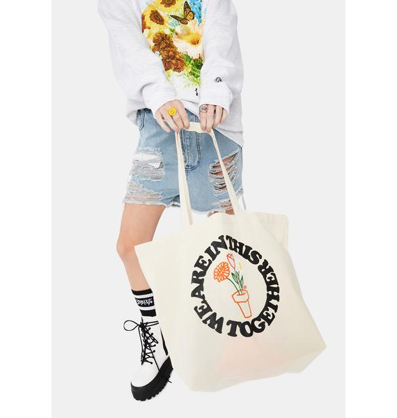 Petals and Peacocks In This Together Tote Bag