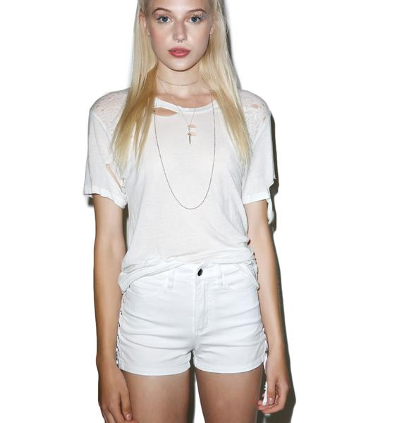 Tripp NYC High Waisted Lace Side Shorts