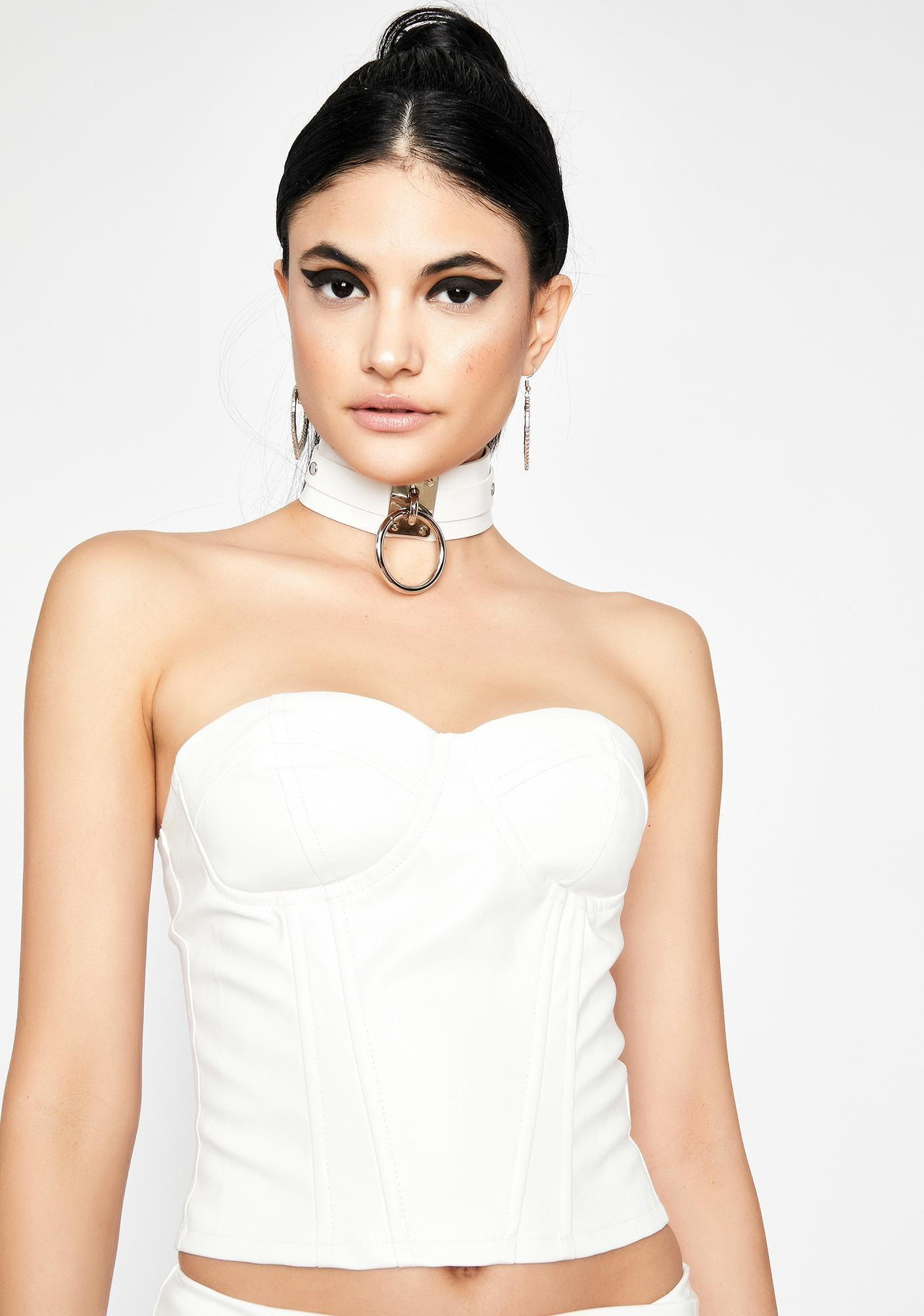 Icy Rev My Engine Bustier Top