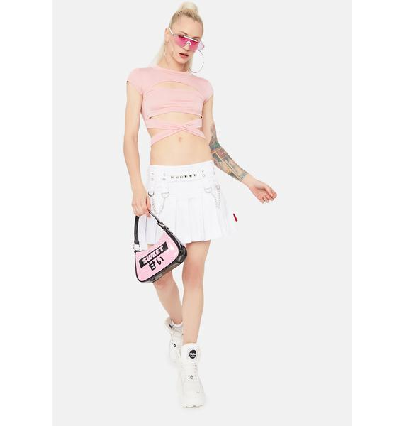 Blush Wrapped Around Your Finger Crop Top