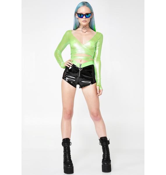 Club Exx Slime Visionary Vixxen Wrap Top