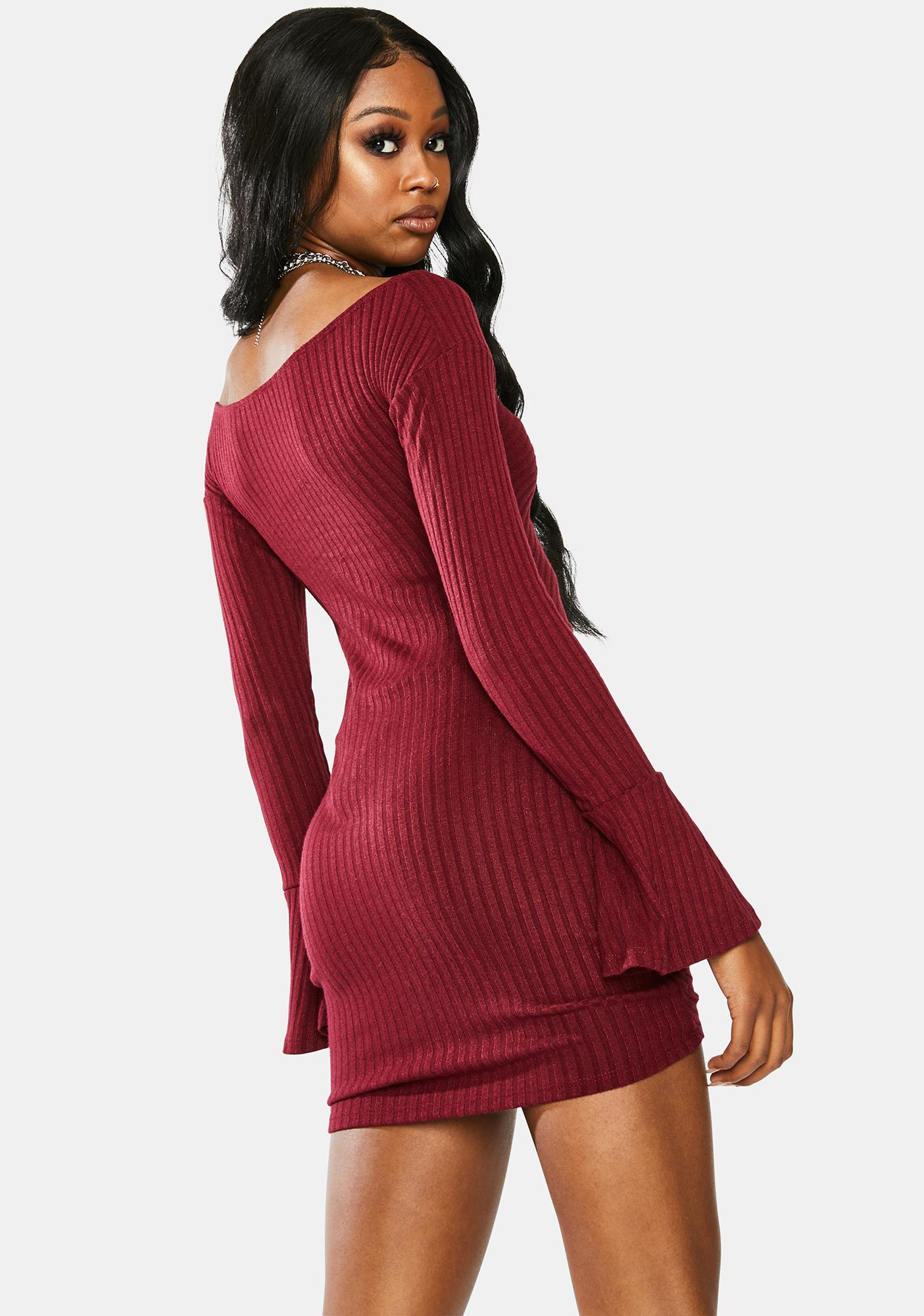 Secret Meetup Ruched Bodycon Dress