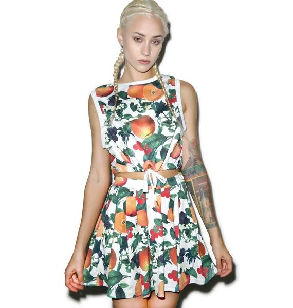Joyrich Orange Blossom Pleats Skirt