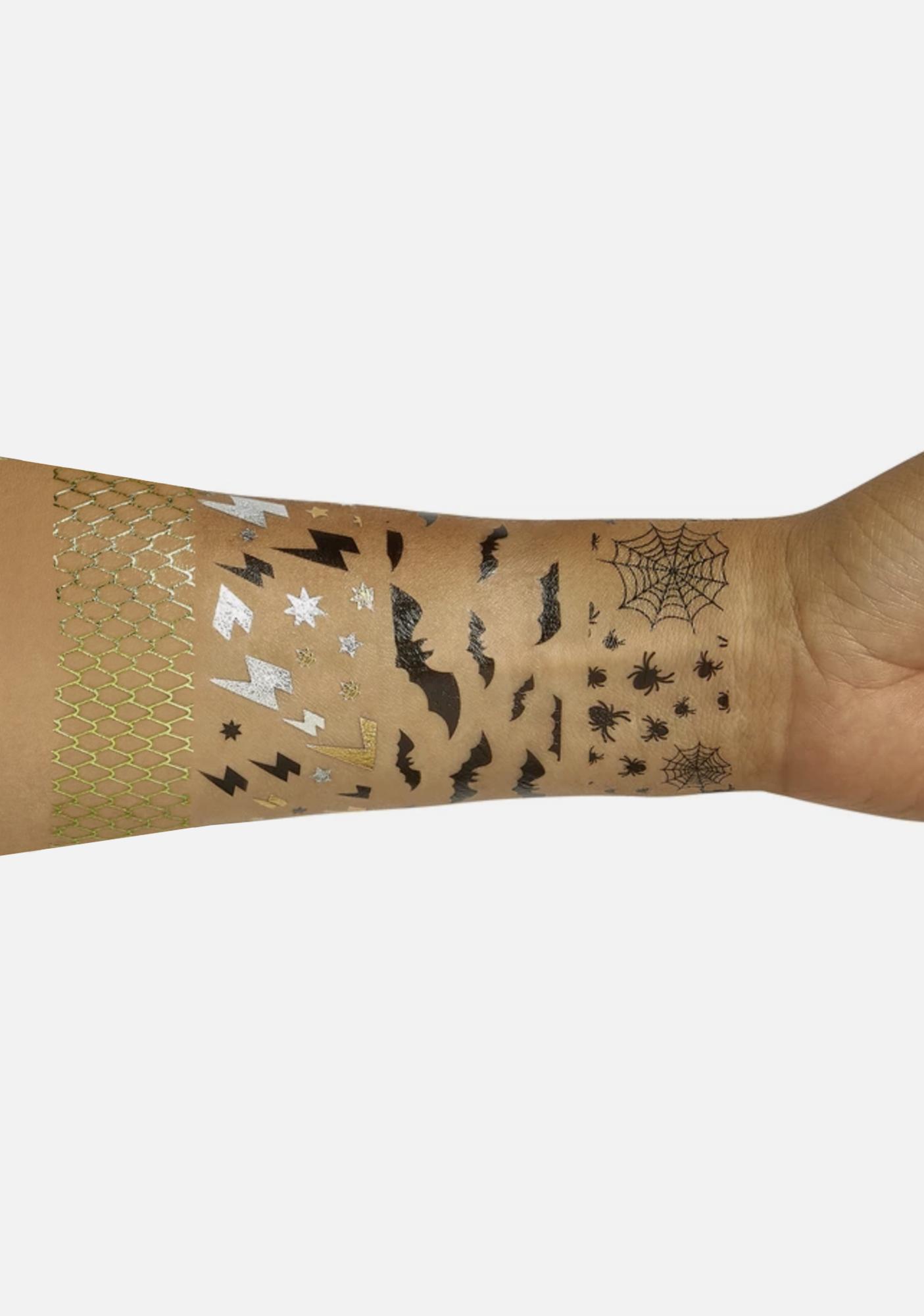 Go Get Glitter Bat Transfer Tattoos
