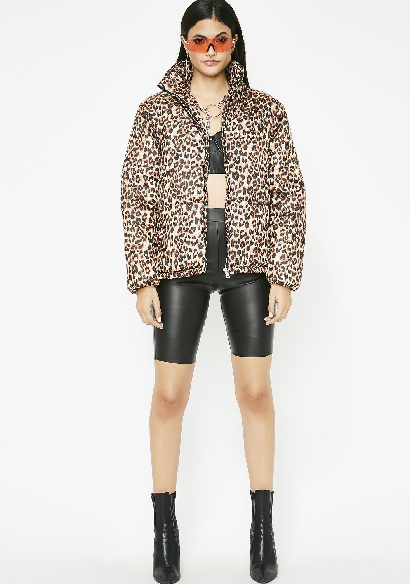 Frisky Behavior Leopard Jacket