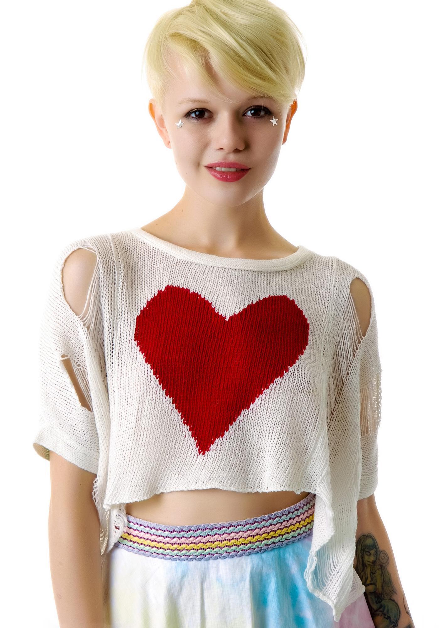 Destroy My Heart Cropped Sweater