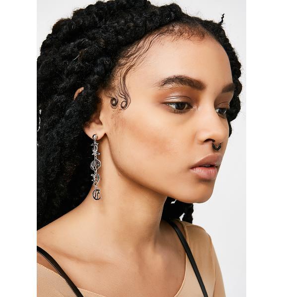 Spell It Out Earrings