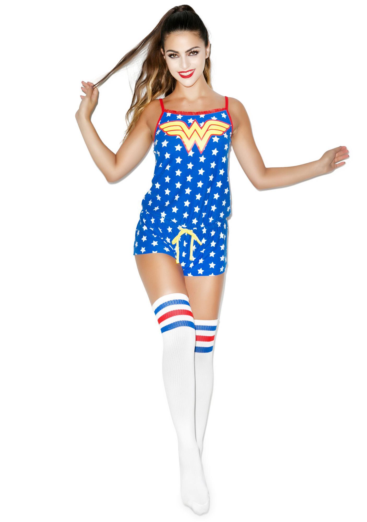 Undergirl Wonder Woman Drawstring Romper